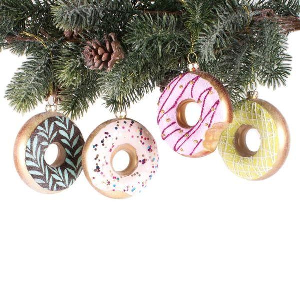 Donut Ornament Set Of 4 Emilymccarthy Com Donut Ornament Christmas Ornaments Ornament Set