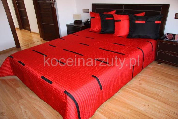 Luksusowe narzuty na łóżko w kolorze czerwonym