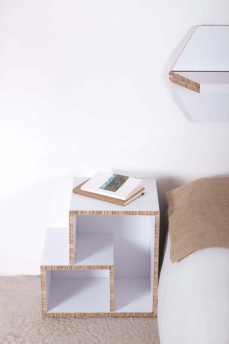 TETRA & EXA - Online store: www.cardboard.es #cardboard #furniture #eco #ecofriendly #reboard #design #ecohouse #headboard