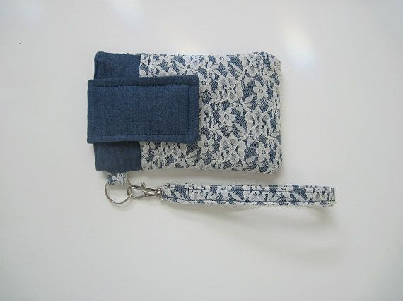 Hey, I found this really awesome Etsy listing at http://www.etsy.com/listing/127019793/denim-and-lace-smartphone-wristlet-fits