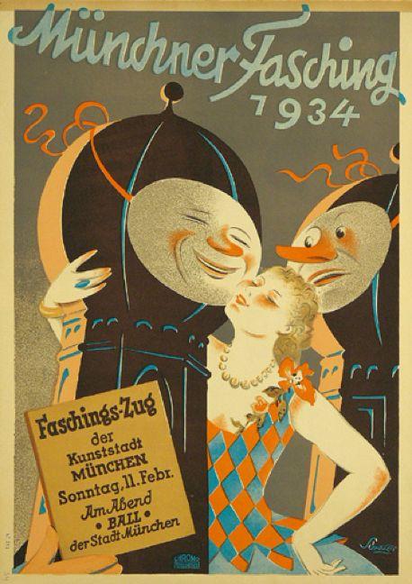 By Max Schwarzer (1882-1955), 1934, Münchner Fasching.