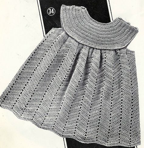 Robe layette au crochet