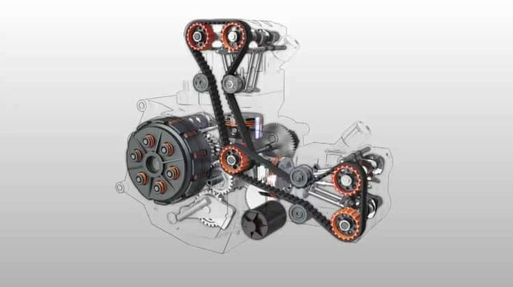Exploded view of a Ducati 748 engine in 3D