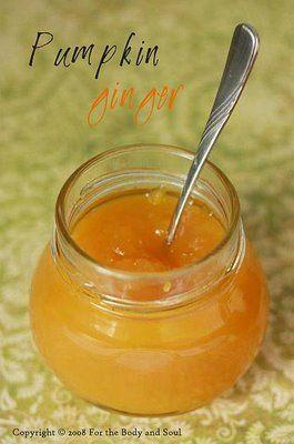 Pumpkin and Ginger Jam