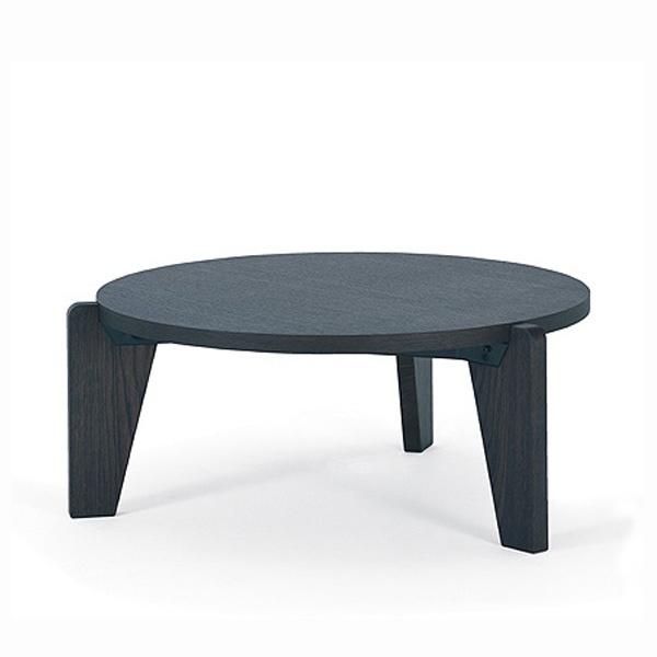 GUERIDON BAS TABLE BY JEAN PROUVE, DARK OAK