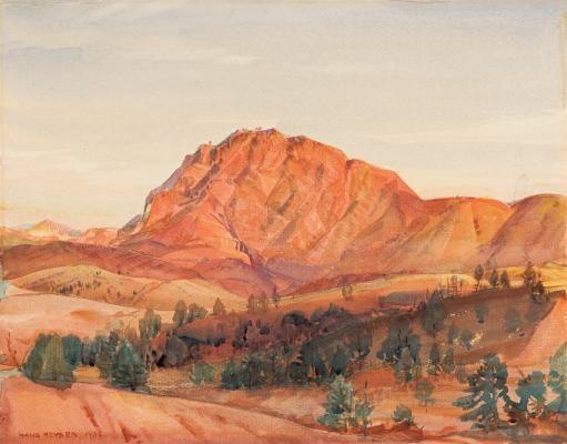 The Guardian of Brachina Gorge, Heysen Range - Hans Heysen