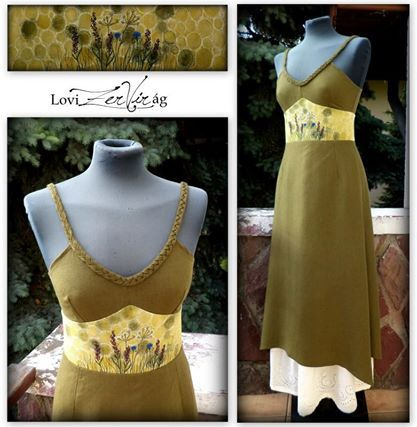 Embroidered dress with wild flowers