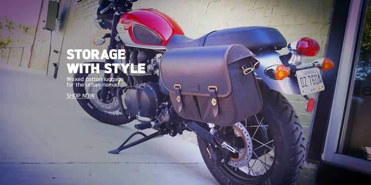 Triumph Bonneville Wax Cotton Saddlebags | Motorcycle Storage with Style | Triumph Motorcycles