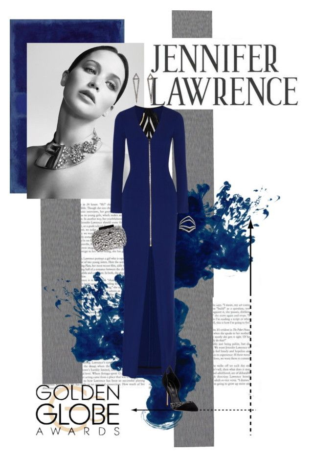 """""""Jennifer Lawrence"""" by cricket0036 ❤ liked on Polyvore featuring Christian Dior, Roland Mouret, Eva Fehren, Lipsy and Sergio Rossi"""