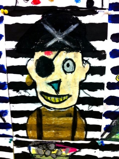 Pirates - would love to see a kid's pirate art turned t-shirt.