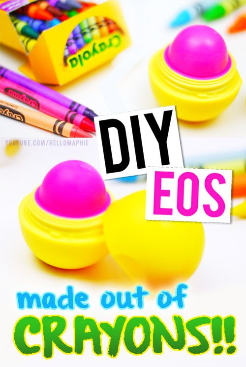 DIY EOS Lip Balm Refill using CRAYONS!! Make y our own color Lip Balm, super simple in just a few steps!! Chapstick EOS Refill you can make in minutes!