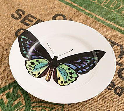 Butterfly Dinner Plate Blue