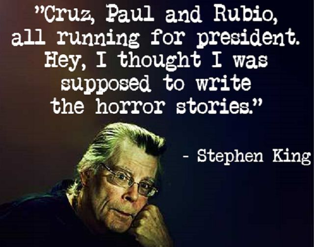 2016 Republican Presidential Candidates Horrified By Stephen King Tweets