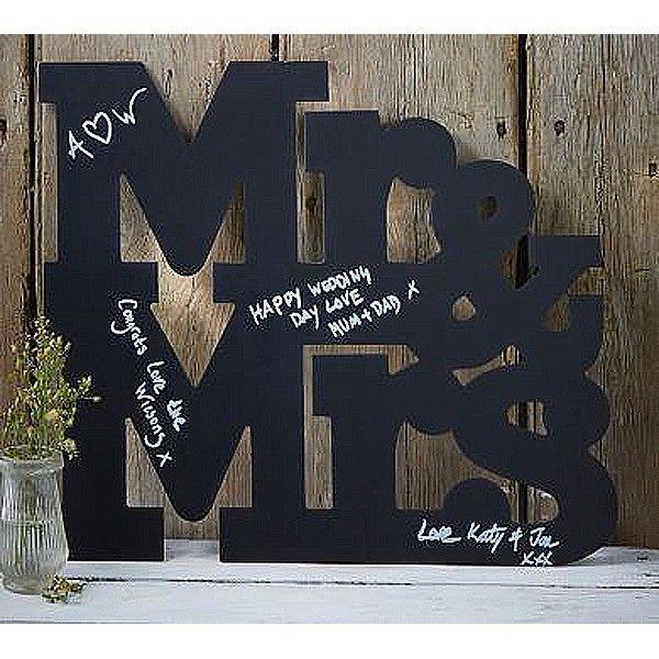 Alternatief gastenboek in de vorm van een Mr & Mrs krijtbord