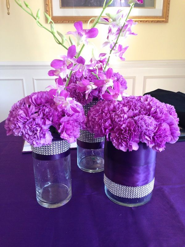 Sparkling events designs lavendar carnation and orchid