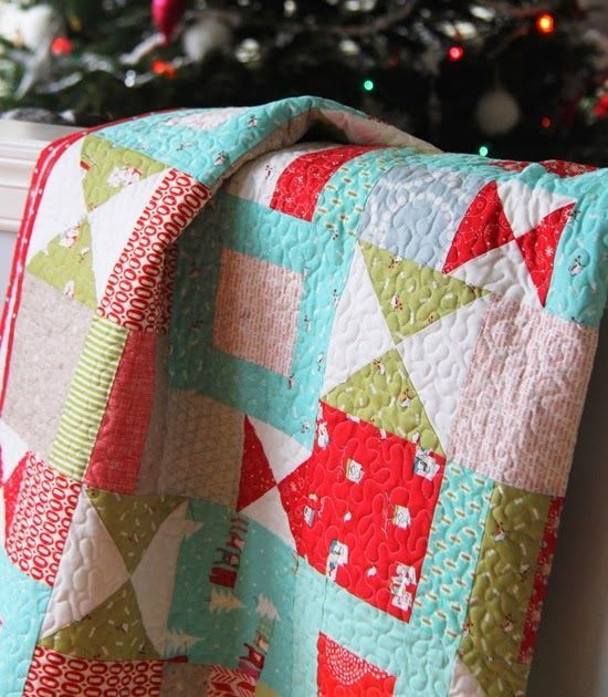 105 best modern christmas quilts images on Pinterest | Christmas ... : kids christmas quilts - Adamdwight.com