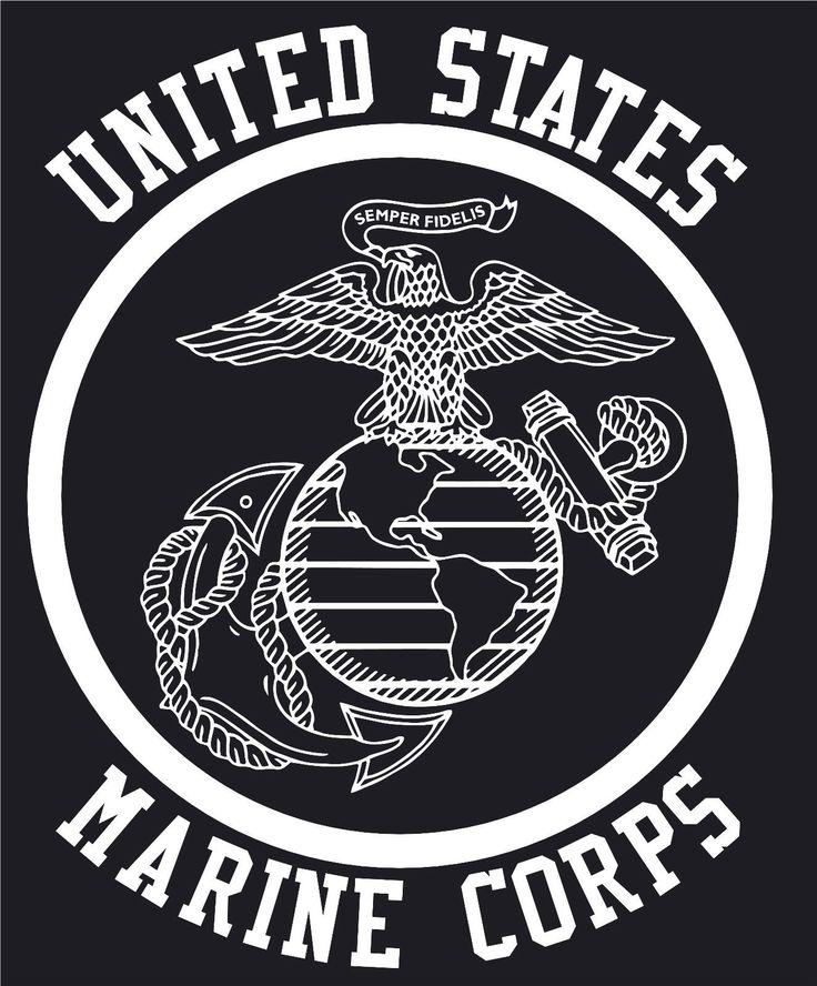Usmc Marines Eagle Globe Anchor Emblem Decal Ebay