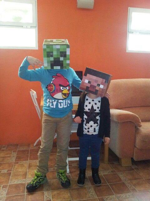 Cumple Minecraft Creeper y Steve - RCACERES