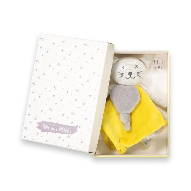 This Pretty Super Soft Cat Comforter Has Been Specially Designed So It S Perfect For Little Hands To Hold And Safe For Baby T Cat Comforter Soft Toy Baby Toys