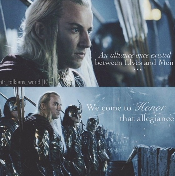 "Lord of the Rings // Hardir - ""An alliance once existed between Elves and Men. We come to honour that allegiance."":"
