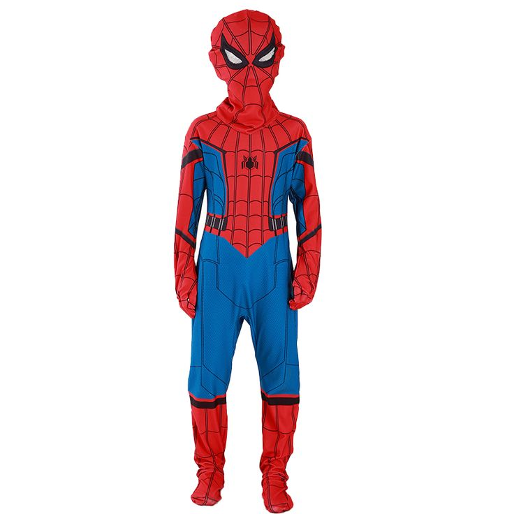 2017 Premiere Marvel Movies Spiderman Home Coming Children Superhero Costume Kids Halloween Party Performance Cosplay Clothing #Costume #cosplay