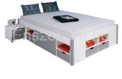 INT-Mikar fiókos ágykeret éjjeliszekrénnyel (140x200cm)