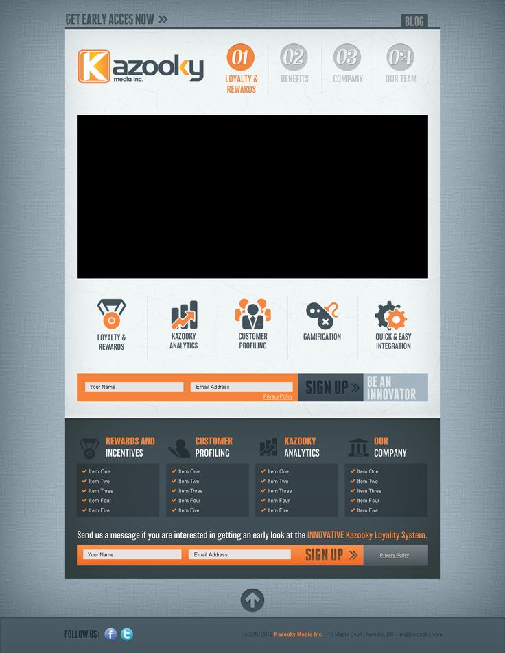 10.13.2012 | Kazooky web design by mindtrickattack #typography #professional #icons #POTD99