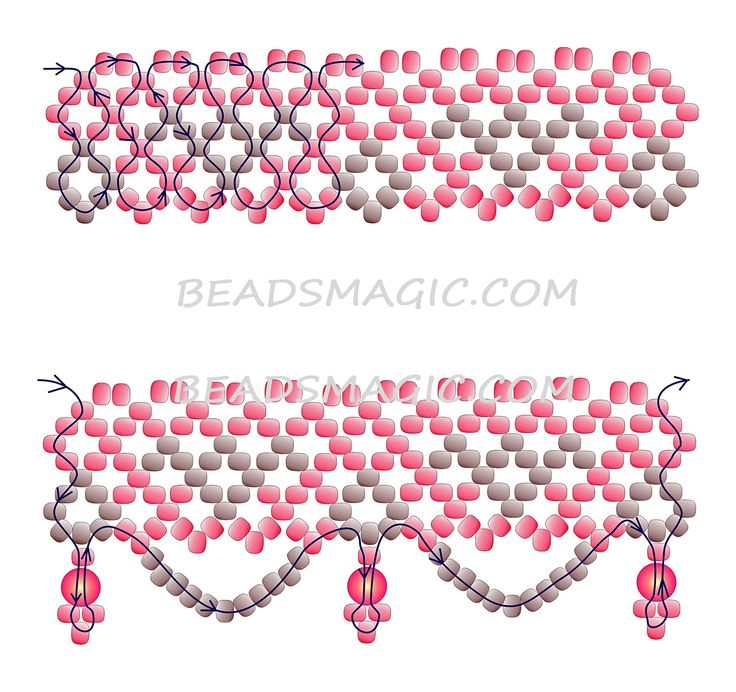 Free pattern for beaded necklace Autumn Color-2 -----u need seed beads11/0 and round beads/pearl beads 4-5 mm.
