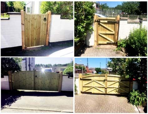 Two of our lovely installs, Kent single and double. Just in time for #summer! :) #ThursdayThoughts #CanncokGates  #gardengates #gates #woodengates #drivewaygates #garden #diy #kent #outside