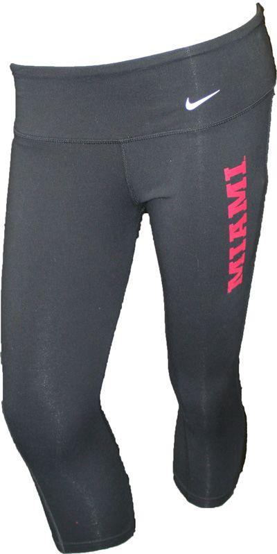Nike Women's Dri-Fit Miami On Left Capri Workout Pants 12254033 | Miami University Bookstore