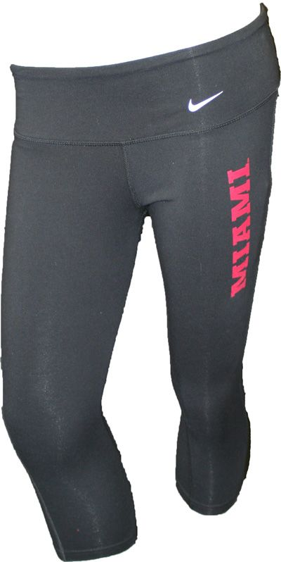 Nike Women's Dri-Fit Miami On Left Capri Workout Pants 12254033 | Miami University Bookstore