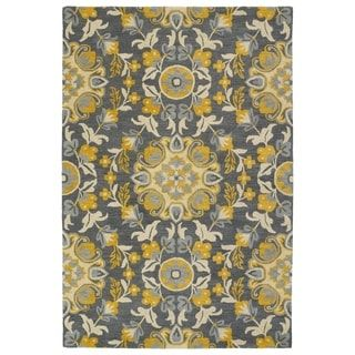 Shop for Hand-Tufted de Leon Grey Tabriz Rug (9' x 12'). Get free shipping at Overstock.com - Your Online Home Decor Outlet Store! Get 5% in rewards with Club O! - 20648566