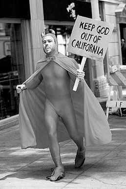 Chris Pontius as the Devil from the movie 'Jackass'.