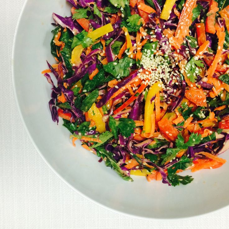 Asian Slaw with Peanut-Lime Dressing - Shine Dining