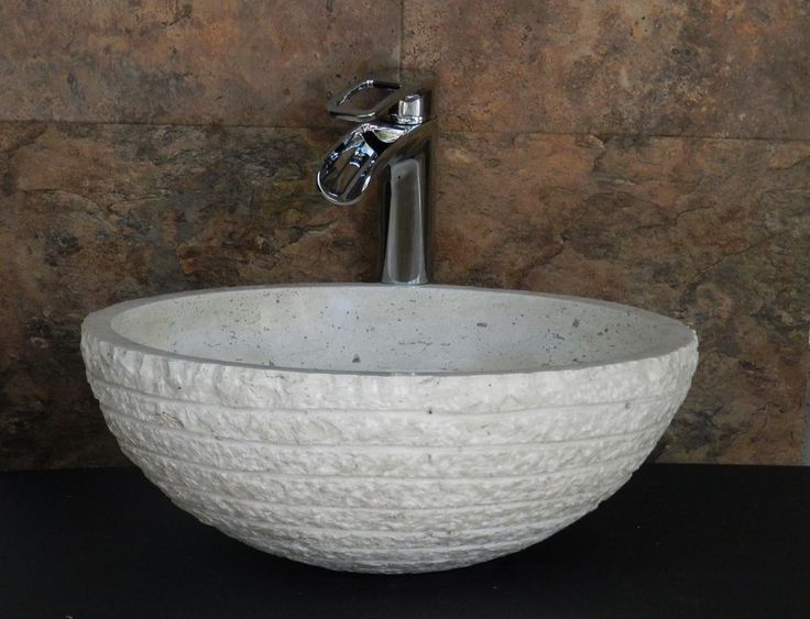 Modern Natural Stone Bathroom Vessel Sink   Beige Travertine Marble  Chiseled #InpiredStonework