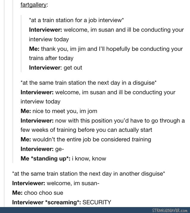 So, did he get the job? - Funny tumblr post