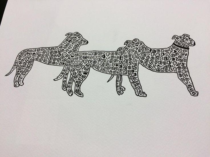I drew three doodle greyhounds as a Mother's Day present for my greyhound loving mum!  #doodle #doodling #doodlemap #draw #drawing #design #designer #art #artist #artwork #artoftheday #kunst #blackandwhite #instaart #instaartist #illustration #illustrationoftheday #graffiti #graphics #graphicdesign #homeware #mcr #manchester #nq  #paint #modernart #streetart #contemporaryart #fineart #greyhound by dave__draws