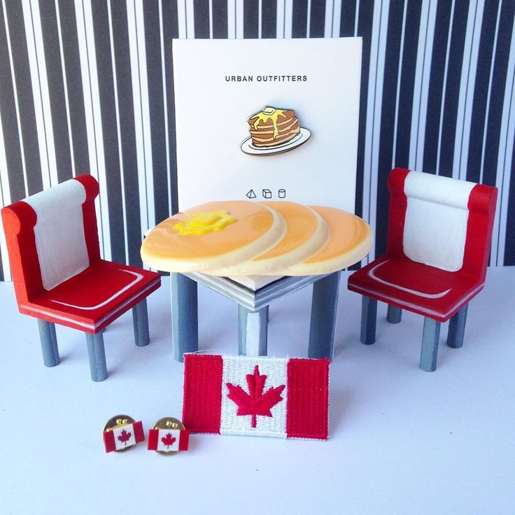 Imaginary Canada 150 Diner and pancake pins!