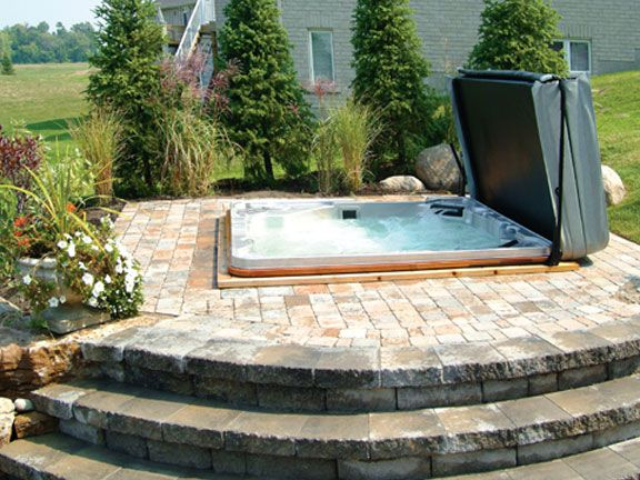 Backyard Ideas With Hot Tub awesome garden hot tubs Would Go Great In My And Bills Backyard