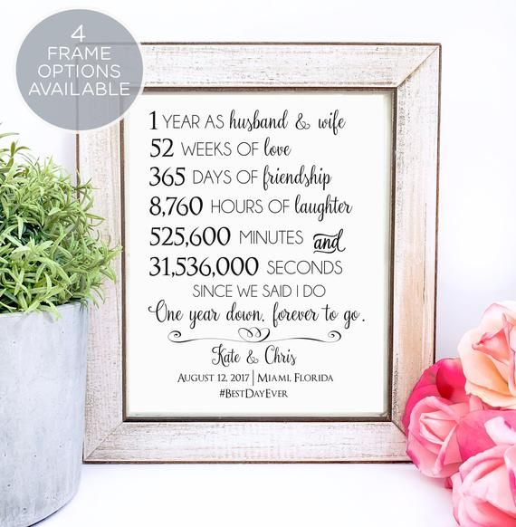 1st Anniversary Gift For Couple First Anniversary Gift Gift Etsy In 2020 25 Year Anniversary Gift Anniversary Gifts For Husband 10 Year Anniversary Gift