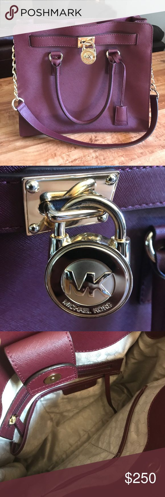 Spotted while shopping on Poshmark: Michael Kors Hamilton! #poshmark #fashion #shopping #style #Michael Kors #Handbags