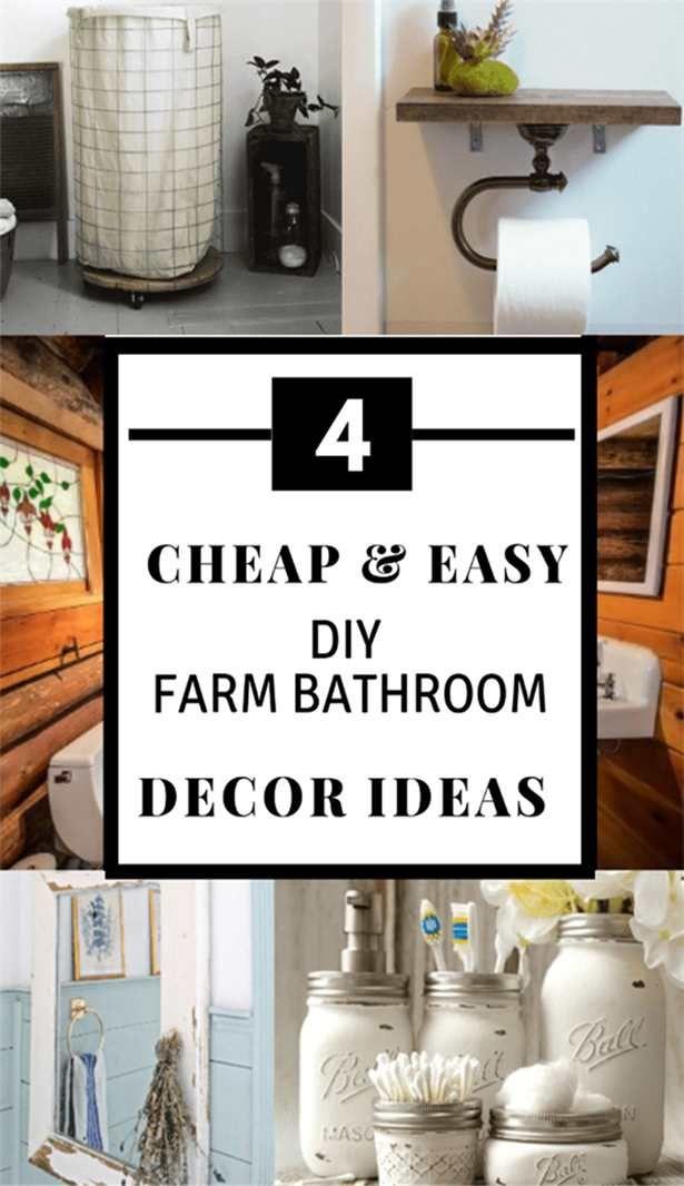 Cheap And Easy Diy Farm Bathroom Decor Ideas Diy Bathroom Decor Bathroom Decor Cheap Farmhouse Decor