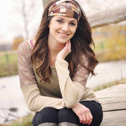 Dark Chocolate Brown Bandana Headband, or Head Wrap Headband for Women, $14.00…