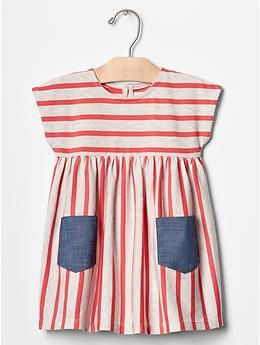 stripe pocket dress | Gap