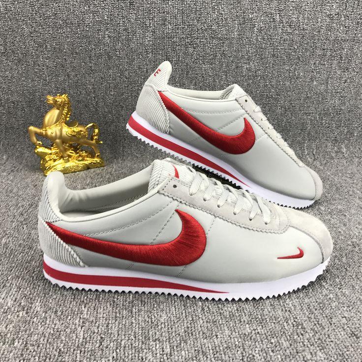 Nike Classic Cortez Nylon Embroidery White Red