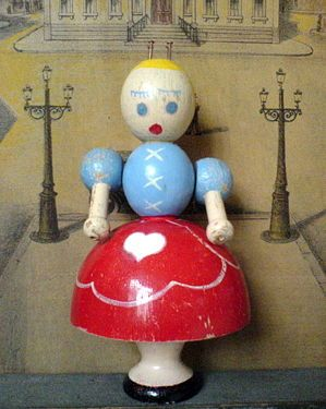 knitting dolly like a doll