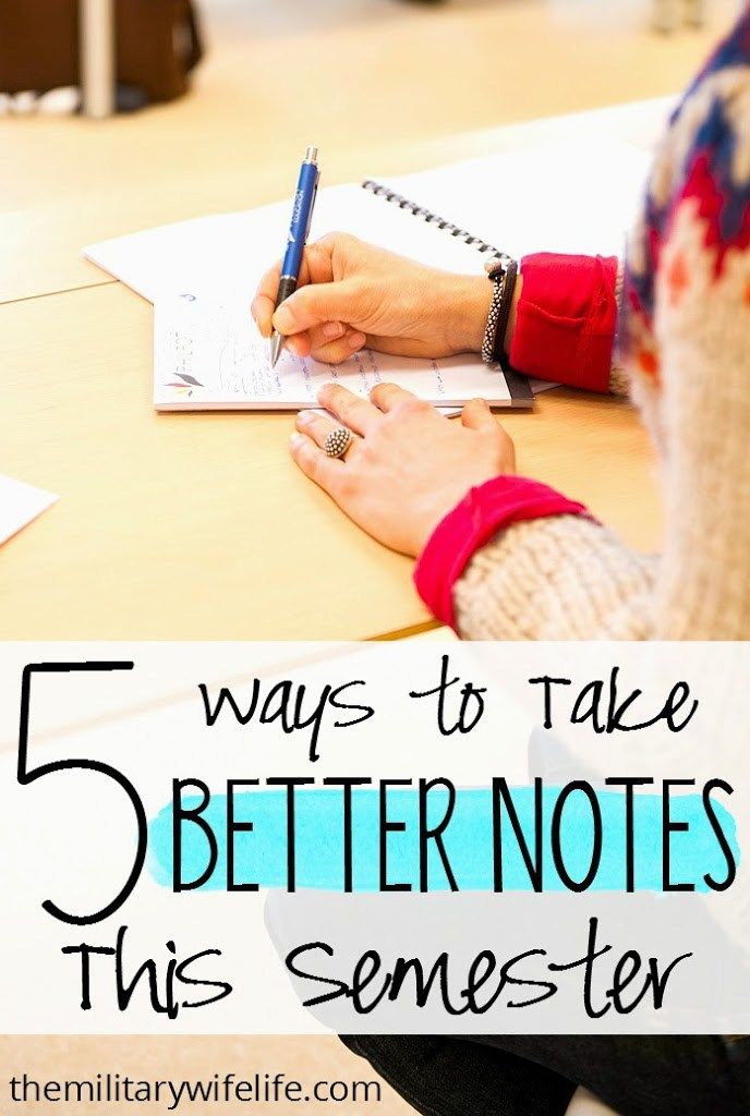 5 Ways to Take Better Notes This Semester - The Military Wife Life