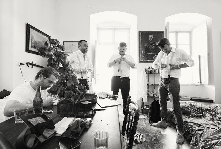 Groom and friends getting ready #wedding #groom #hydra