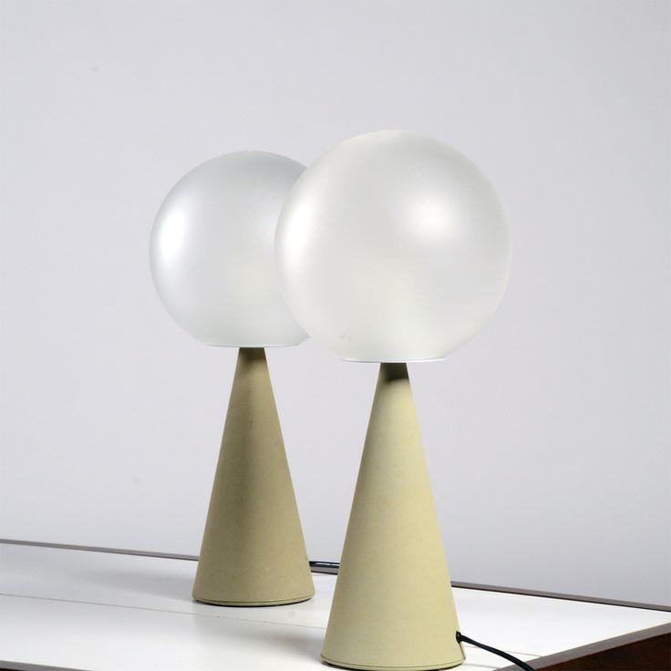 Gio Ponti; 'Bilia' Table Lamps Designed 1931. Produced  by Fontana Arte, 1967.