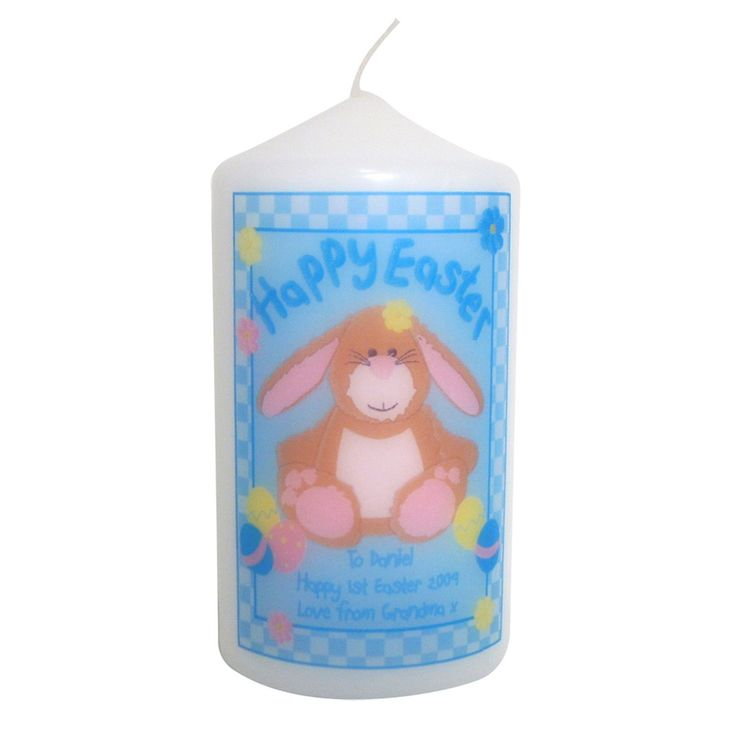 22 best easter images on pinterest easter gift personalised gifts personalised happy easter candle bunny perfect easter gift or present for mum dad brother sister son daughter grandad grandma nanny friends negle Choice Image